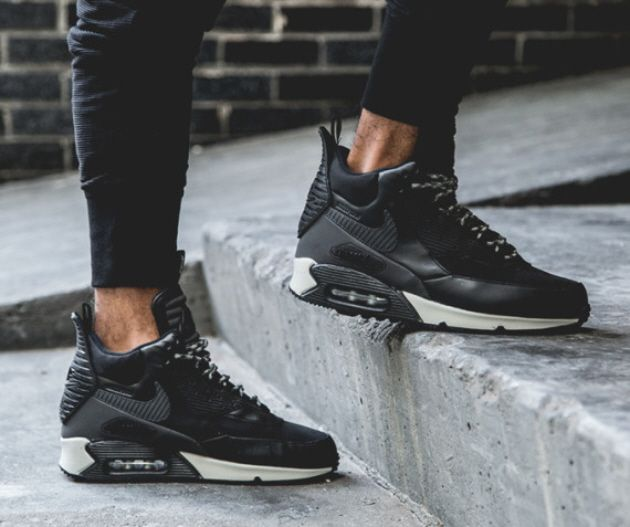 Nike Air Max 90 Sneakerboot Winter Wolf Grey Anthracite Infrared