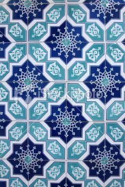 Islamic tiles Royalty Free Stock Photo