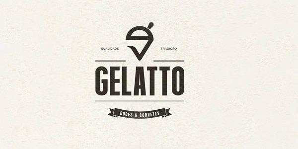 Gelatto - 30 Ice Cream Logo Design Examples for Inspiration