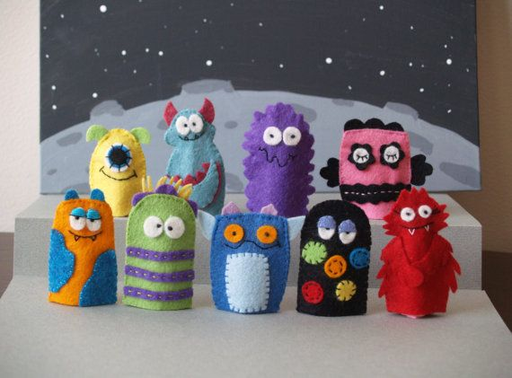 Monster Finger Puppet Set- Choose Any Three