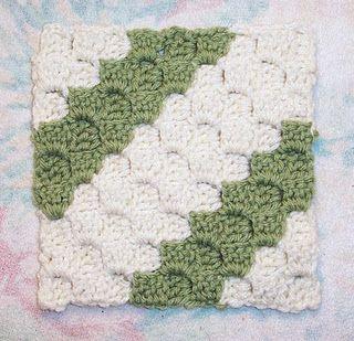 Diagonal Box Stitch pattern--LOVE! Making a ton right now! Free pattern on Ravelry.