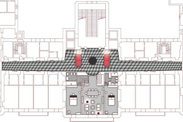 Second floor's plan