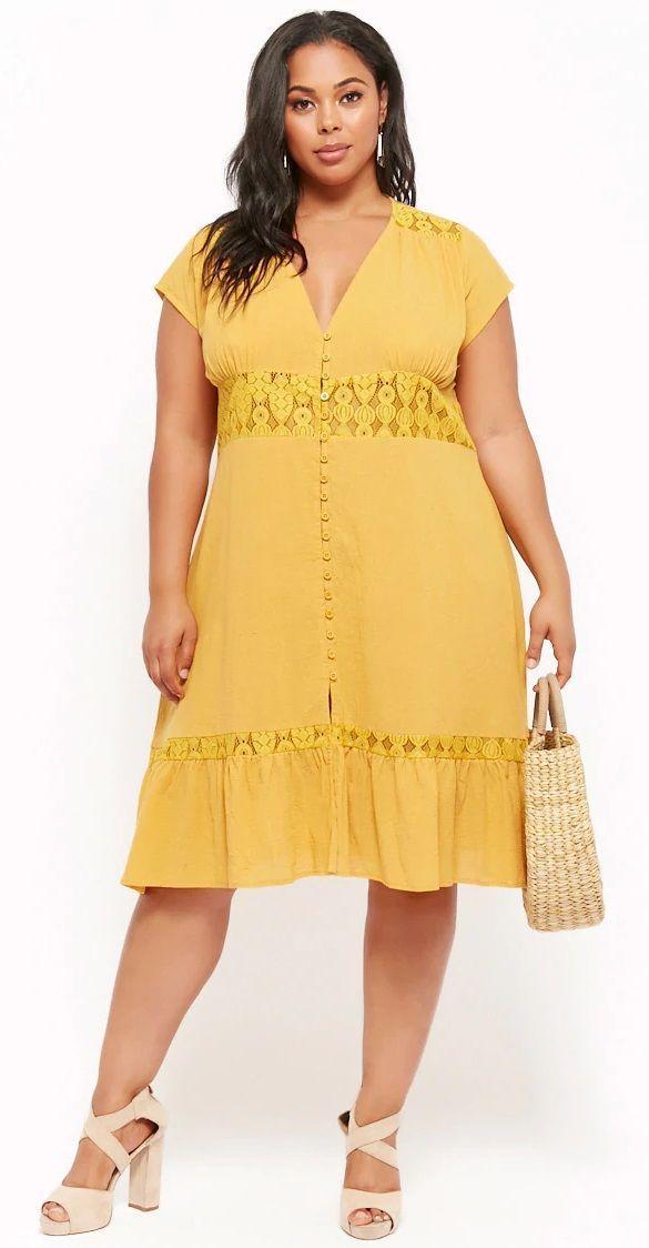 Plus Size Button-Front Dress #plussize | Plus Size Fashion | Fashion ...