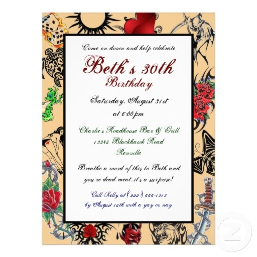 13 best Surprise images – Tattoo Party Invitations
