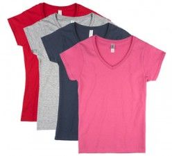 Wholesale Clothing!!!!!!!!!!!  Assorted Colors  Womens Fitted V-Neck