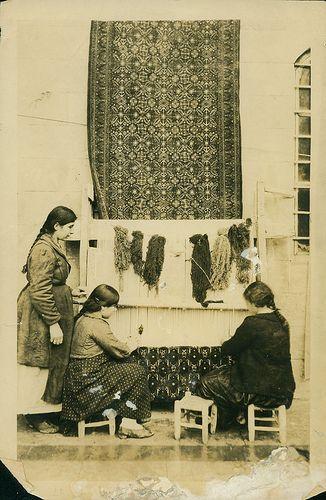 Armenians making rugs. Aleppo, Syria | agbu | Flickr