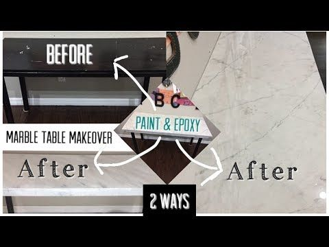 DIY Marble Table Makeover 2 WAYS | Paint & Epoxy |…