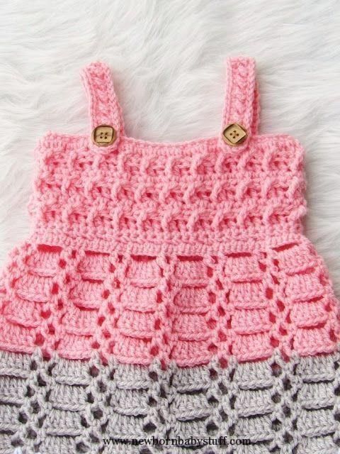658 Best Crochet Baby Dress Free Pattern Newborn Images On Pinterest