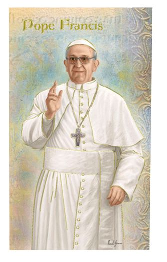 Reginas Catholic Gifts - BIOGRAPHY OF POPE FRANCIS-PACK OF 10, $15.00 (http://www.reginascatholicgifts.com/biography-of-pope-francis-pack-of-10/)
