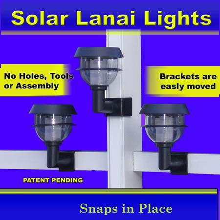 Solar Accent Lanai Lights for Pool Cages/ Lanais/ Screened Enclosures