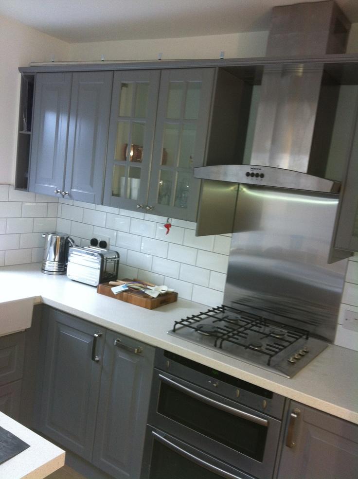 Grey Metro Tiles Kitchen