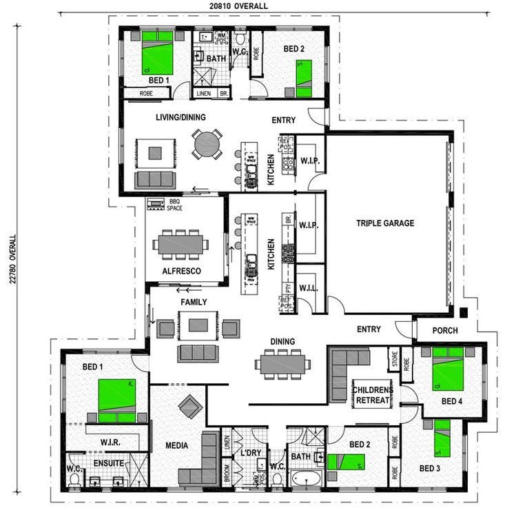Attached Granny Flats | Family house plans, House with ...