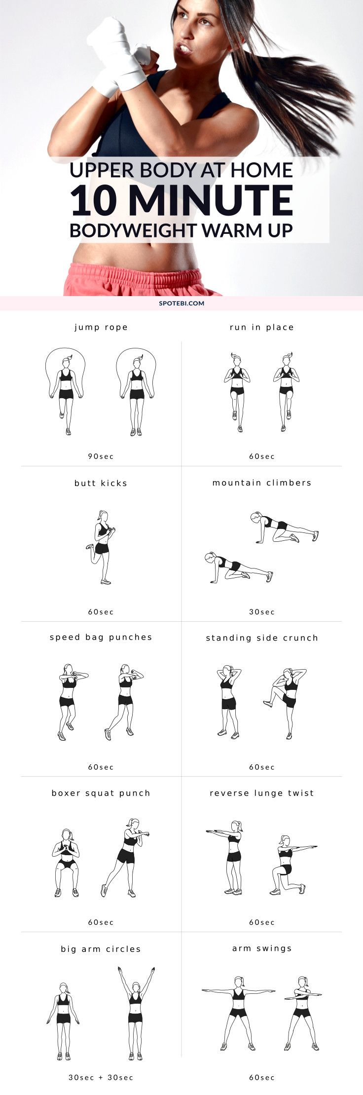 Try this quick warm up routine next time you want to prepare for an upper body workout. A 10 minute set of dynamic exercises to help you improve your flexibility, boost your…