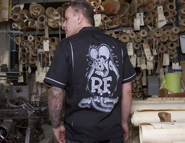 Rat Fink Kustoms Bowler Button Up Front and Back