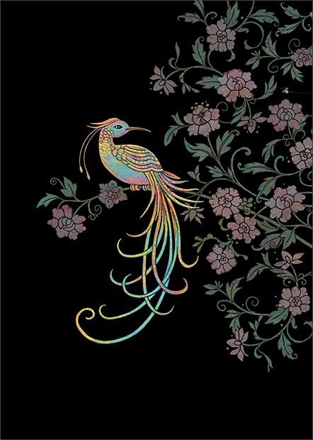 Bird of Paradise - designed by Jane Crowther for Bug Art Greeting Cards.