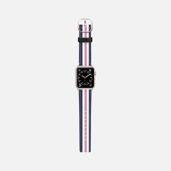 Casetify Apple Watch Band (38mm) Saffiano Leather Watch Band - Classic Lady (Pink) by designonfleek