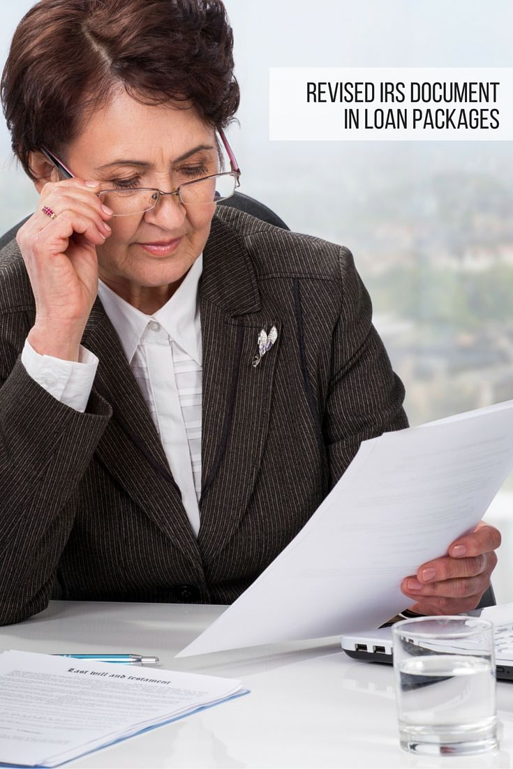 Notary Signing Agents Now Seeing Revised IRS Document In