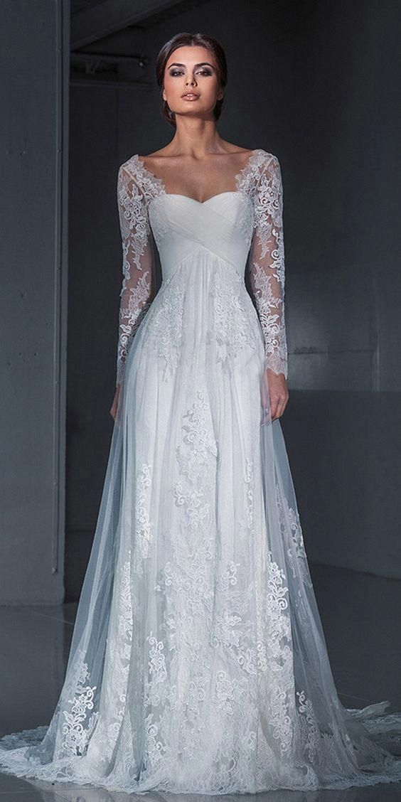 Long Sleeve Formal Lace Wedding Dresses, Bridal by PrettyLady on #weddingdresses…