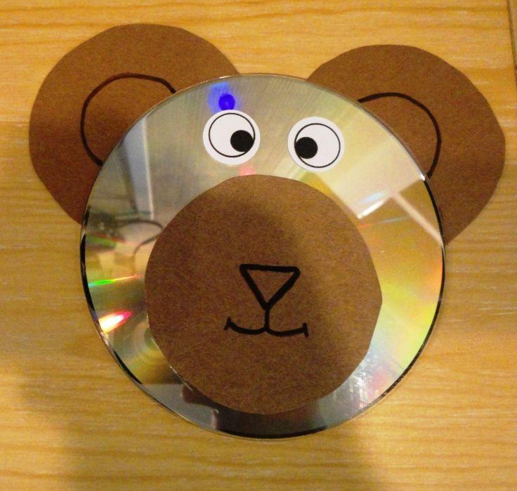 Teddy bear cd craft