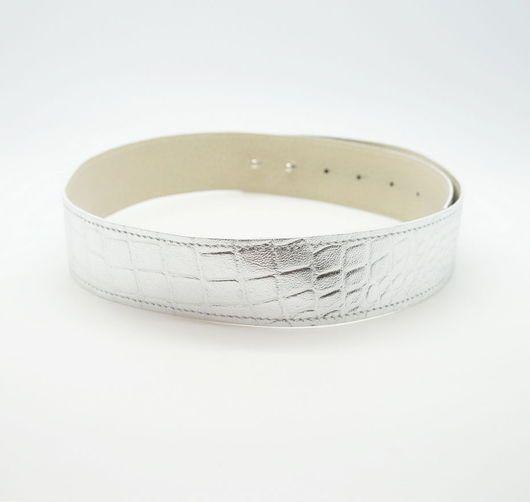 Пояса, ремни ручной работы. Пояс из натуральной кожи Silver. Dukova Design. Интернет-магазин Ярмарка Мастеров. Пояс женский