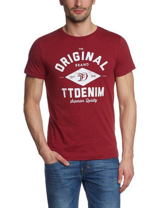 Tom Tailor - Camiseta de College de manga corta para hombre: #TomTailor #Camiseta #Tshirt