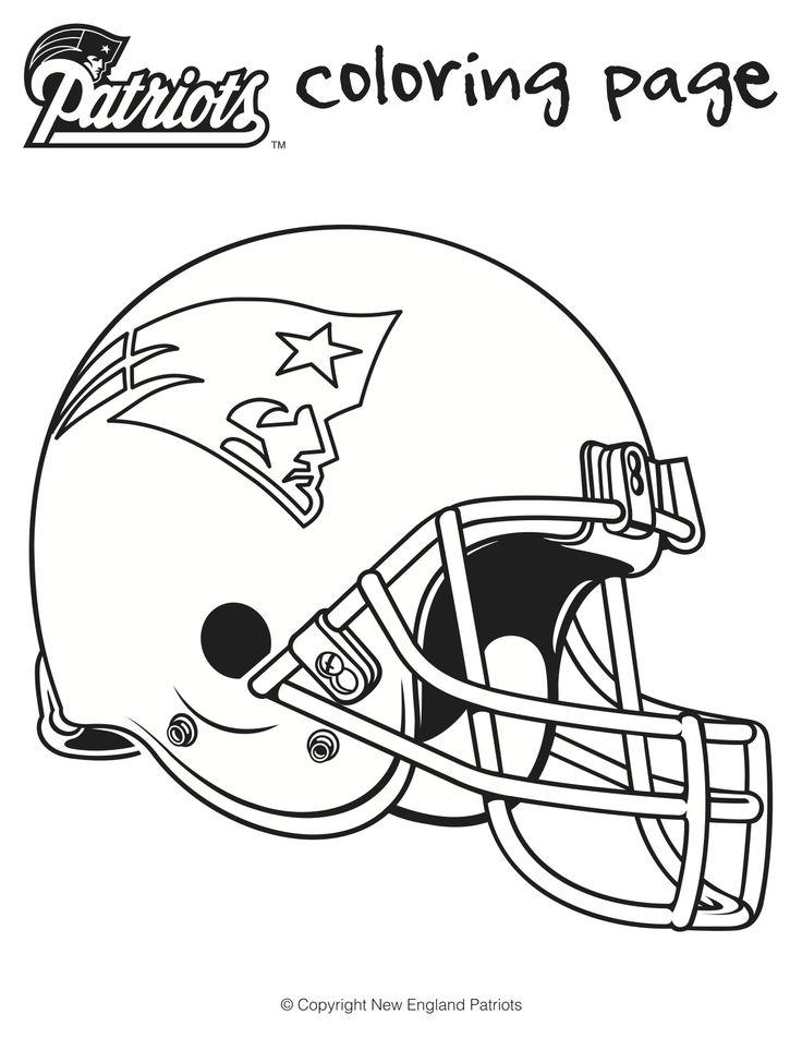 Football Coloring Sheets for Kids | Superbowl | Pinterest | Patriots ...