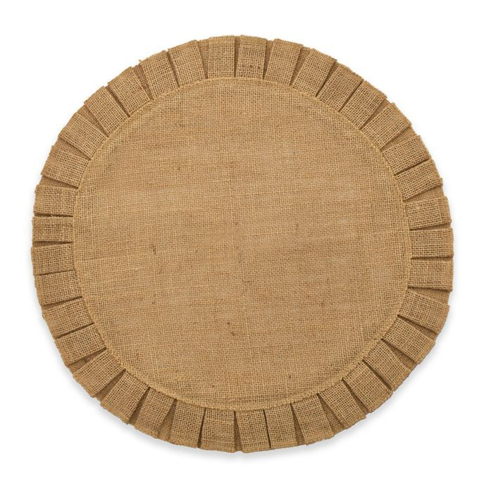 Bee Willow Home Ruffled Edge Jute Placemat In Natural Bed