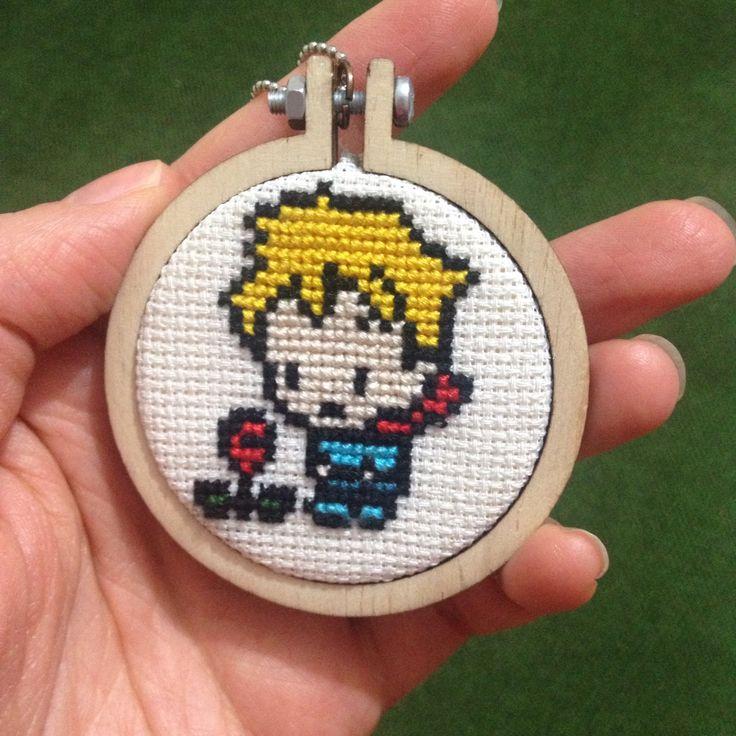 Cross stitch necklace, etamin kolye ucu, küçük prens