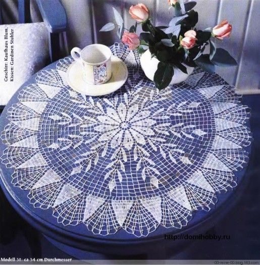 Lots of beautiful doilies + diagrams