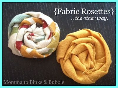 momma to binks: How to Make: Fabric Rosettes Another Way {Tutorial}
