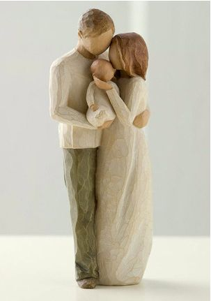 "Willow Tree figurine: ""Our Gift"" message- Message: ""Our bright, joyful gift!"""