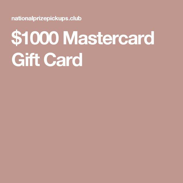 $1000 Mastercard Gift Card