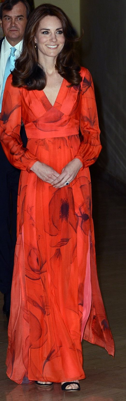 Kate Middleton in Beulah London http://www.dailymail.co.uk/news/article-3542121/Poppy-appeal-Kate-dons-745-red-dress-featuring-Bhutan-s-national-flower-special-tribute-country-glittering-reception.html http://whatkatewore.com/2016/04/15/its-familiar-favorites-for-himalayan-hike-poppies-on-her-evening-gown/ http://hrhduchesskate.blogspot.sg/2016/04/the-duchess-in-poppy-print-beulah.html