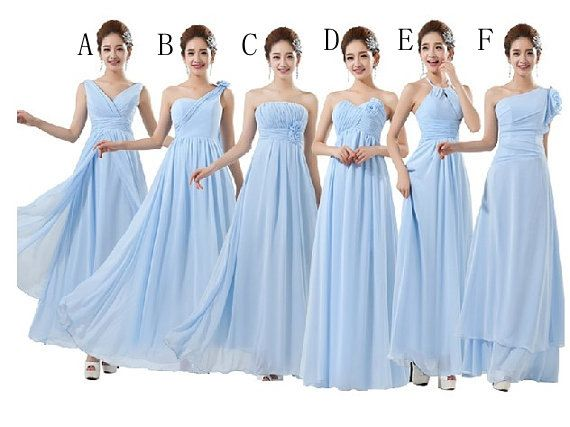 Blue Bridesmaid Dresses Chiffon Bridesmaid By Wishuponwedding