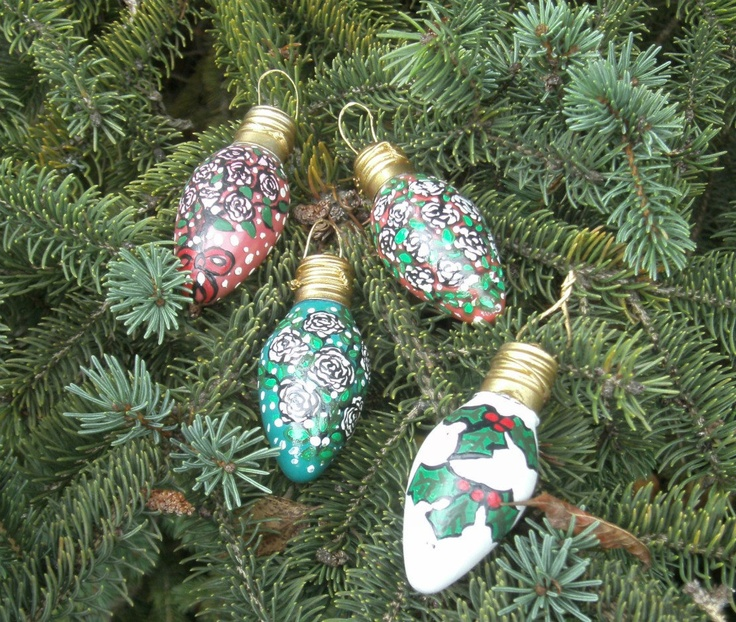 More recycled light bulb ornaments