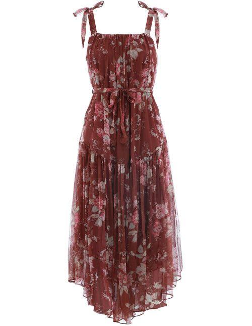 8e620e3723 Zimmermann Unbridled Tie Waist Slip Dress. Product Image.