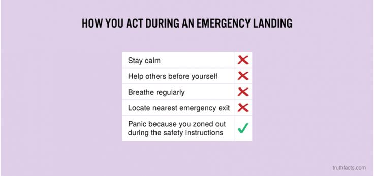 How you act during an emergency landing