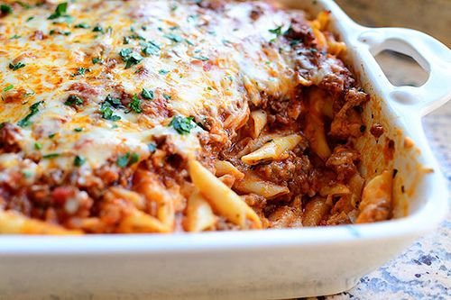 Before I begin with this recipe tutorial, I must make an important disclosure:    I did not use ziti to make this Baked Ziti....