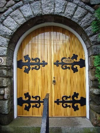 Ogunquit Library Doors.  Much the same as when I was a child checking out my first books