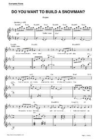 do you want to build a snowman easy piano pdf