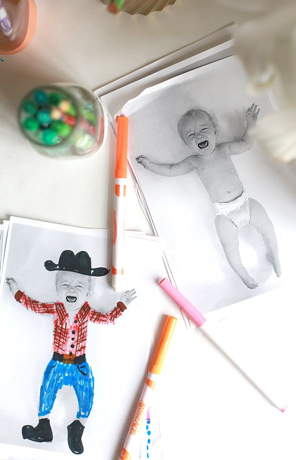Paper doll party activity