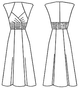 "Example models of wedding dresses and corset developed on the basis of a program calculation ""Cutter"""
