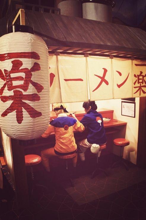 Naruto and Sasuke at Ichiraku Ramen Shop | Naruto