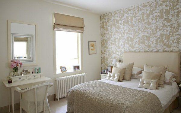 modern bedroom design ideas Laura Ashley wallpaper accent wall ideas