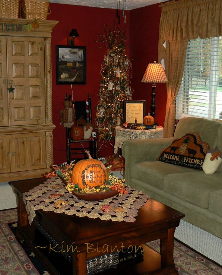 Images of primitive rooms bing images home pinterest pumpkins primitive living room and - Country decorating ideas for living rooms ...