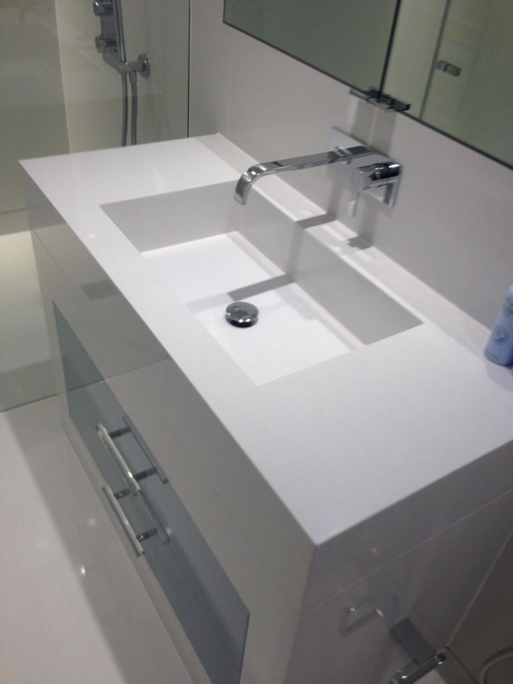 white quartz vanity
