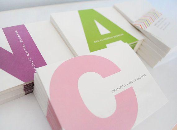 Personalized kids stationery initial stationery by AlmostSundayInc, $39.00
