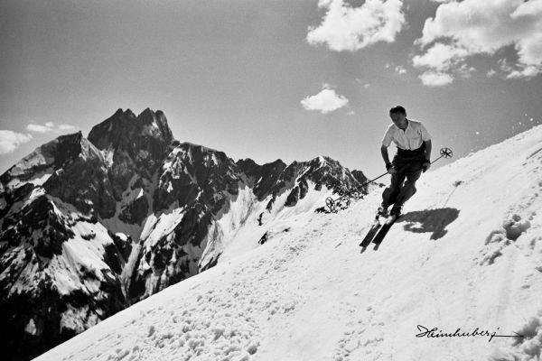 Nostalgische Ski Fotos auf Leinwand. Jetzt das riesengroße Heimhuber Archiv…