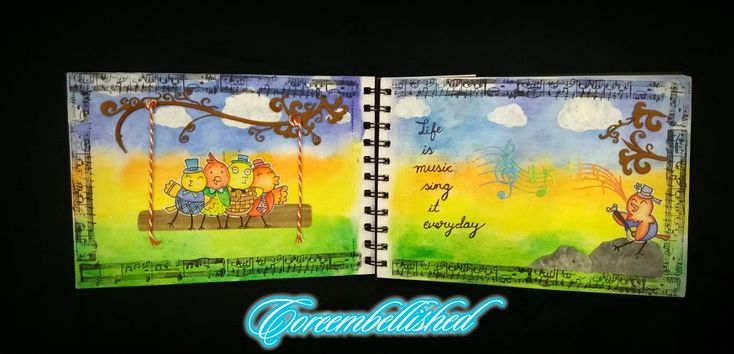 """https://www.youtube.com/channel/UCTT9Yf21vfUjjrL99shLhdQ?view_as=subscriber   https://youtu.be/h6o7ApM3MFw   #artjournaling  #artjournal  #artjournalpage  """"LIFE US MUSIC SING IT EVERYDAY"""""""