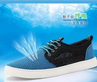de los hombres de verano,  transpirable malla de superficie ayuda baja zapatos de moda masculina Inglés doug edición de han de la marea arenisca los zapatos de cuero de peluche
